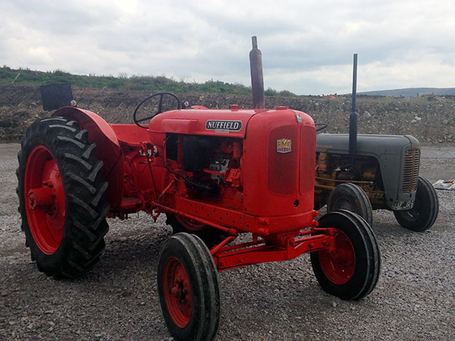 Vintage tractor at Gam Farm Rare Breeds