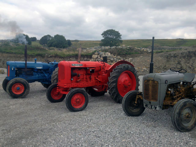 Image of vintage tractors at Gam Farm
