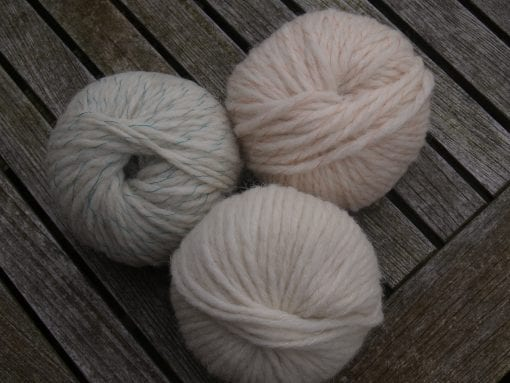 Numble 50g Yorkshire's Lopi with teal, peach or neutral wrap