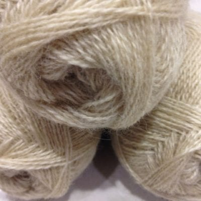 Wensleydale 2ply balls 50g in natural