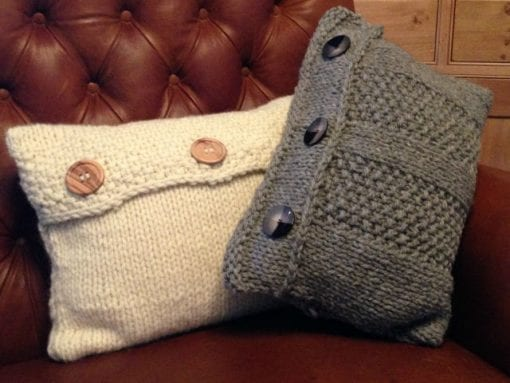 Bluster & Bluff chunky easy knit cushion covers